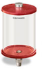 "Red Color Key, Clear View Oil Reservoir, 1/2 gal Acrylic, 1/2"" NPT, Pipe Mount -- B5166-064AB4RW -- View Larger Image"