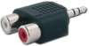 3.5 mm (M) to 2 RCA (F) Adapter -- AD-A35M/2RF