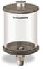 """Clear View Oil Reservoir, 1 qt Acrylic, 1/2"""" Male NPT, Pipe Mount -- B4466-032AB4W -- View Larger Image"""