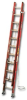 FIBERGLASS FLAT D-RUNG EXTENSION LADDER -- HD6236-2