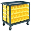 Service Cart,1200 Lbs,Holds 64 Opt. Bins -- RSC-2436-BLP-64-210-95