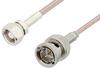 75 Ohm SMC Plug to 75 Ohm BNC Male Cable 60 Inch Length Using 75 Ohm RG179 Coax, RoHS -- PE33586LF-60 -Image