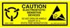 """Label, Yellow/Black 1"""" x 2-1/2""""  """"Caution Sensitive Devices"""" -- 301-1025 -- View Larger Image"""