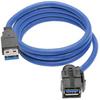 USB 3.0 SuperSpeed Keystone Jack Type-A Extension Cable (M/F), 3 ft. -- U324-003-KJ