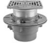 Floor Drain with Square Stainless Steel Strainer -- FD-1200-M -- View Larger Image