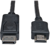 DisplayPort to HDMI Adapter Cable (M/M), 1080p, 15 ft. -- P582-015 -- View Larger Image