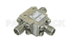 Circulator with 18 dB Isolation from 7 GHz to 12.4 GHz, 10 Watts and SMA Female -- PE83CR000 - Image