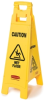 Rubbermaid 2 and 4-Sided Floor Signs with Multi-Lingual Imprints -- 8072