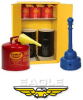 Eagle 110 gal Yellow Hazardous Material Storage Cabinet - 58 in Width - 65 in Height - 048441-33490 -- 048441-33490 - Image