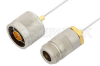 N Male to N Female Cable 6 Inch Length Using PE-SR047AL Coax -- PE34296LF-6 -Image