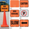 Snap-On Signs for Traffic Cones -- 4619501 - Image