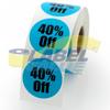 40% Off Round Label 1.5