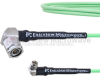 Low Loss RA SMA Male to RA TNC Male Cable LL160 Coax in 36 Inch and RoHS -- FMCA1702-36 -Image