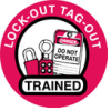 Hard Hat Labels - LOTO Trained (Indoor/Outdoor Vinyl Film) -- 754476-42248