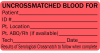 Uncrossmatched Blood Medical Label Red -- LV-MBB1