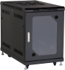 """15U Split Rear Door Cabinet 24""""W x 40""""D Tempered Glass Front -- RM2510A -- View Larger Image"""