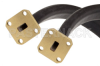 WR-28 Twistable Flexible Waveguide 12 Inch, UG-599/U Square Cover Flange Operating From 26.5 GHz to 40 GHz -- PE-W28TF005-12 -Image
