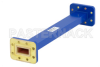 WR-90 Commercial Grade Straight Waveguide Section 9 Inch Length with CPR-90G Flange Operating from 8.2 GHz to 12.4 GHz -- PE-W90S002-9 -Image