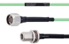 Temperature Conditioned Low Loss N Male to N Female Bulkhead Cable LL142 Coax in 12 Inch -- FMHR0175-12 -Image
