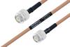MIL-DTL-17 TNC Male to TNC Male Cable 200 cm Length Using M17/128-RG400 Coax -- PE3M0084-200CM -Image