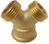 Brass 3-Way Hose Wye -- No. GHY - Image