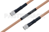 MIL-DTL-17 SMA Male to SMA Male Cable 100 cm Length Using M17/128-RG400 Coax -- PE3M0079-100CM -Image
