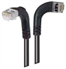 Category 5E Shielded Right Angle Patch Cable, Right Angle Right/Right Angle Down, Black 2.0 ft -- TRD815SRA10BLK-2 -Image