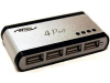 4 Port USB 2.0 Self-Powered Mini Hub w/ Power Supply -- 150301