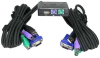 2 Way Mini KVM PS/2 & USB port with Attached Cable (5ft) -- 1901-SF-21 - Image