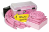 PIG HazMat Spill Kit in See-Thru Wall-Mount Chest -- KIT385