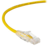 Slim-Net 28-AWG CAT6A 500-MHz Ethernet Patch Cable (UTP) - PVC, Snagless, Yellow, 3 ft. -- C6APC28-YL-03