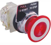 Pushbutton, Non-Illuminated, Red Maintained (Push/Pull), 1NO-1NC, 30mm,10A, 600V -- 70060383