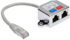 2-to-1 RJ45 Splitter Adapter Cable, 10/100 Ethernet Cat5/Cat5e (M/2xF), 6 in. -- N035-001 - Image