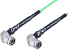TNC Male Right Angle to TNC Male Right Angle Low Loss Cable 50 CM Length Using PE-P160LL Coax -- PE3C5250-50CM -Image
