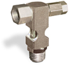 """(Formerly B1630-9-TP-SG), Inverted Angle Small Sight Feed Valve, Solid Gasket, 1/4"""" Female NPT Inlet, 1/4"""" Male NPT Outlet, Tamperproof -- B1628-334B2TW -- View Larger Image"""