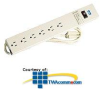 Leviton Heavy-Duty 6-Outlet Plug Strip with On/Off.. -- 5200-S15