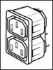 CONNECTOR, POWER ENTRY, RECEPTACLE, 2.5A -- 92N4161