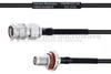 SMA Male to SMA Female Bulkhead MIL-DTL-17 Cable M17/119-RG174 Coax in 18 Inch -- FMHR0107-18 -Image