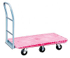 Flush Plastic Deck Platform Trucks with 6 Wheels -- Model PM