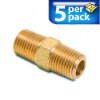 Connector Air Fitting: male, brass, for 1/4in NPT to 1/4in NPT, 5/pk -- BFMC-14N -- View Larger Image
