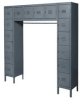 Unassembled Locker,6 Tier,D 18,H 78,Gray -- 4KCU5
