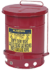 10-Gallon Oily Waste Can with Foot Operated Cover - Red -- CAN9300-RED - Image