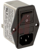 EMI POWER LIN FILTER, MULTI FUNCTION MOD, W/O VOLT SELECT, W/IEC CONN, DBL FUSE -- 70133416 - Image
