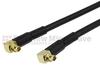 RA MMCX Plug to RA MMCX Plug Cable RG-174 Coax in 36 Inch -- FMC1919174-36 -Image