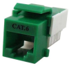 Cat6 RJ45 Modular Keystone Jack, 110 Style, Green -- 43-312GN