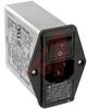 EMI POWER LINE FILTER, MULTI FUNCTION MODULE, W/IEC CONN, DBL FUSEHOLDR, W/VOLTG -- 70133402 - Image