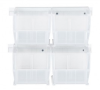 Bins & Systems - Clear-View Bins - Ultra Stack and Hang - Plastic Rail Systems - HNS230CL