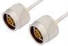 N Male to N Male Cable 6 Inch Length Using PE-SR405AL Coax -- PE34140LF-6 -Image