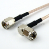 SMA Male to RA SMA Male Cable RG-316 Coax in 36 Inch and RoHS Compliant -- FMC0204315LF-36 -Image
