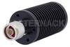 25 Watt RF Load Up to 3 GHz With N Male Input Round Body Black Anodized Aluminum Heatsink -- PE6228 -Image